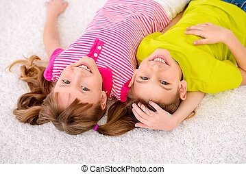 joyful children have fun