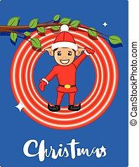 Joyful Elf Christmas Greeting Card
