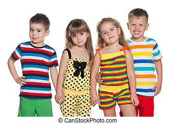 Joyful four children