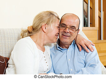 joyful mature couple together