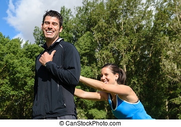 Joyful Sport Couple