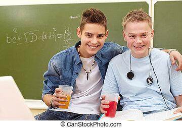 Joyful teenagers