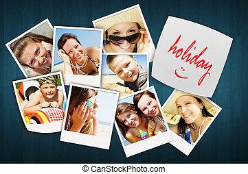 joying, persone, foto, tavola, vacanza, felice