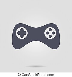 Joypad sign simbol. - Gamepad icon. Vector. Flat design ...