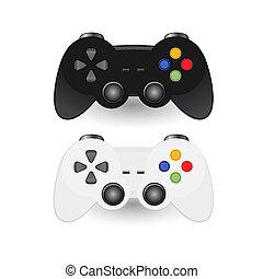 joystic, coussin jeu, illustration