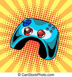 Joystick comic book style vector