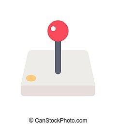 joystick flat color icon