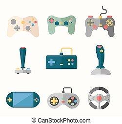 Joystick flat icons