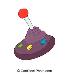 Joystick for gear shift icon, cartoon style