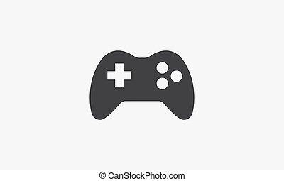 joystick icon design vector on white background.