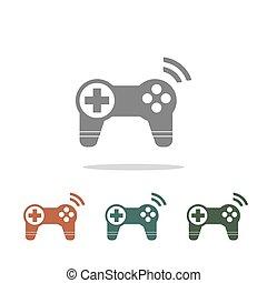 joystick icon isolated on white background