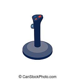 Joystick icon, isometric 3d style