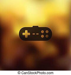 joystick icon on blurred background