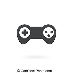 Joystick icon on the background , vector