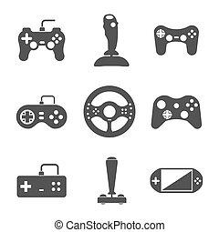 Joystick icons set