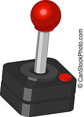 Illustration of a classic gamer?s joystick