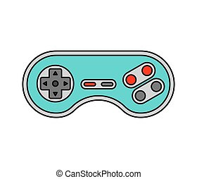 Joystick isolated. Retro Gamepad. Video Game Controller old