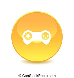 Joystick , Joystick icon on the background , vector