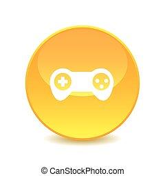 Joystick , Joystick icon on the background , vector