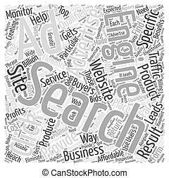 JP PPC search engine advertising Word Cloud Concept