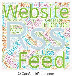 JP rss web site text background wordcloud concept