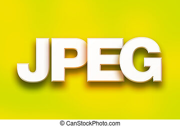 jpeg Concept Colorful Word Art