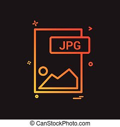 jpg, bestand, formaat, pictogram, vector, ontwerp