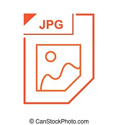 JPG file icon, cartoon style