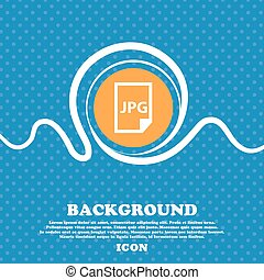 Jpg file icon sign. Blue and white abstract background flecked with space for text and your design. Vector