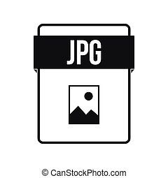 JPG file icon, simple style