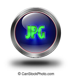 JPG glossy icon