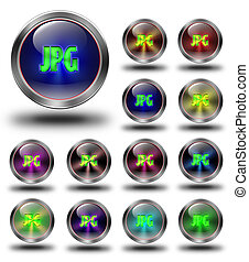 JPG glossy icons, crazy colors