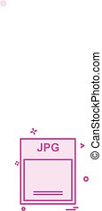 Jpg icon design vector