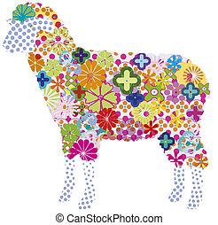 jpg of vector sheep