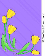 Jpg Purple Copy Space Yellow Tulips