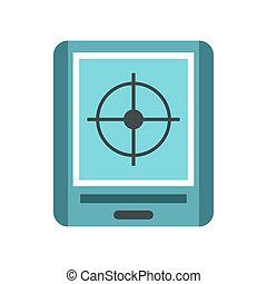 JPS navigator icon, flat style