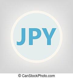 JPY (Japanese yen) acronym- vector illustration