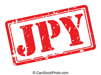 JPY red stamp text