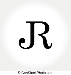 JR initial monogram illustration - a unique typography for...