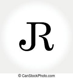 JR initial monogram illustration - a unique typography for...