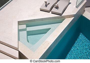 JRTs Enjoying Custom Luxury Pool - Custom Luxury Pool and...