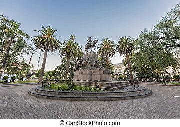 9 de Julio Square in Salta, Argentina - Juan Antonio de ...