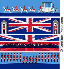 Jubilee Banner Set - Set of banners for a British Royal...