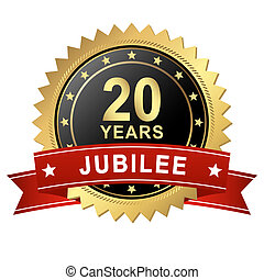 Jubilee Button with Banner - 20 YEARS