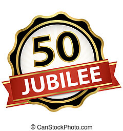 Jubilee button with banner 50 years