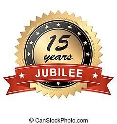 jubilee medallion - 15 years - golden jubilee medallion with...
