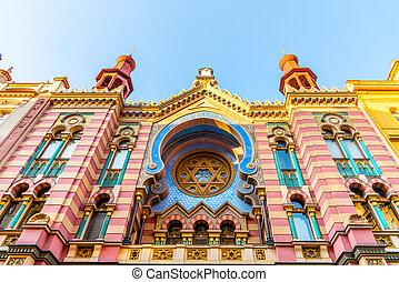 Jubilee Synagogue, or Jerusalem Synagogue, in Prague, Czech Republic.