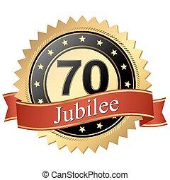 jubileo, botón, -, años, 70, banderas