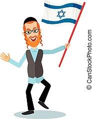 judío, bandera