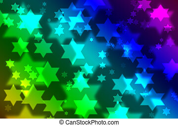 judío, bokeh, estrella, plano de fondo, celebración